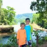 Evan and Noah at the top of Aqua Azul