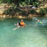 Swimming in the Azul pools at the top
